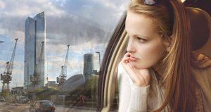 Girl on the Tube - Canary Wharf